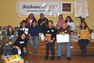 Members of Belchertown Community Aid Network Display their haul.